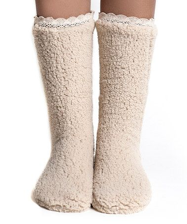 Another great find on #zulily! Biscuit Plush Socks by Lemon Legwear #zulilyfinds