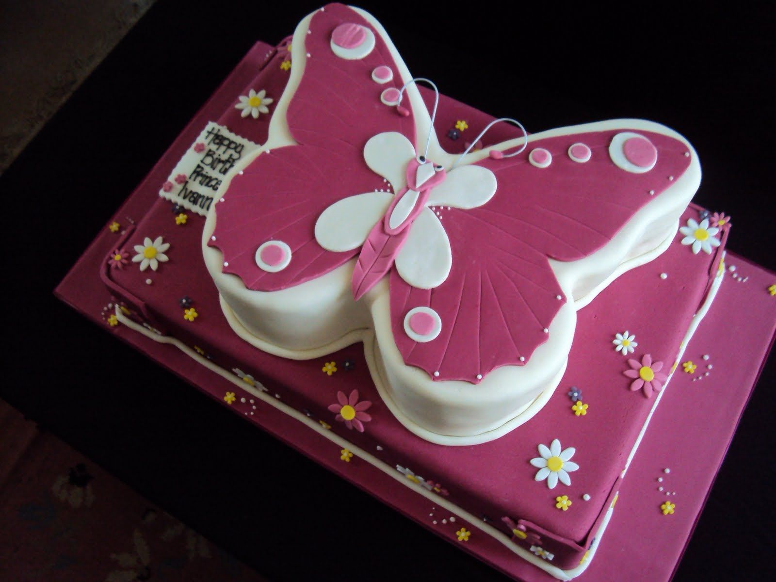 butterfly cake patterns was quite nervous when making the