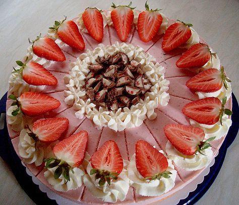 Erdbeer Yogurette Torte Lecker Essen Rezepte Pinterest
