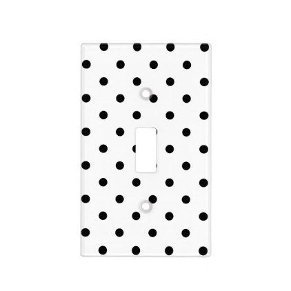 black polka dots on white background light switch cover templates