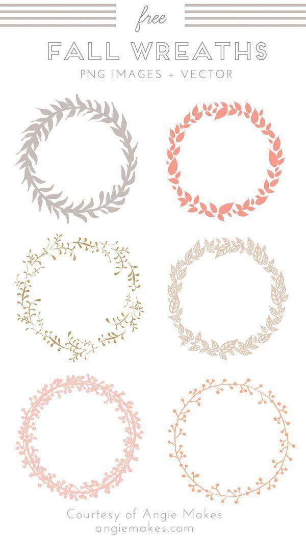 Free Fall Wreath Clip Art. Wreath Vector. Fall Wreath Images and Vector Clip Art. Free Graphics. Freebies.   angiemakes.com