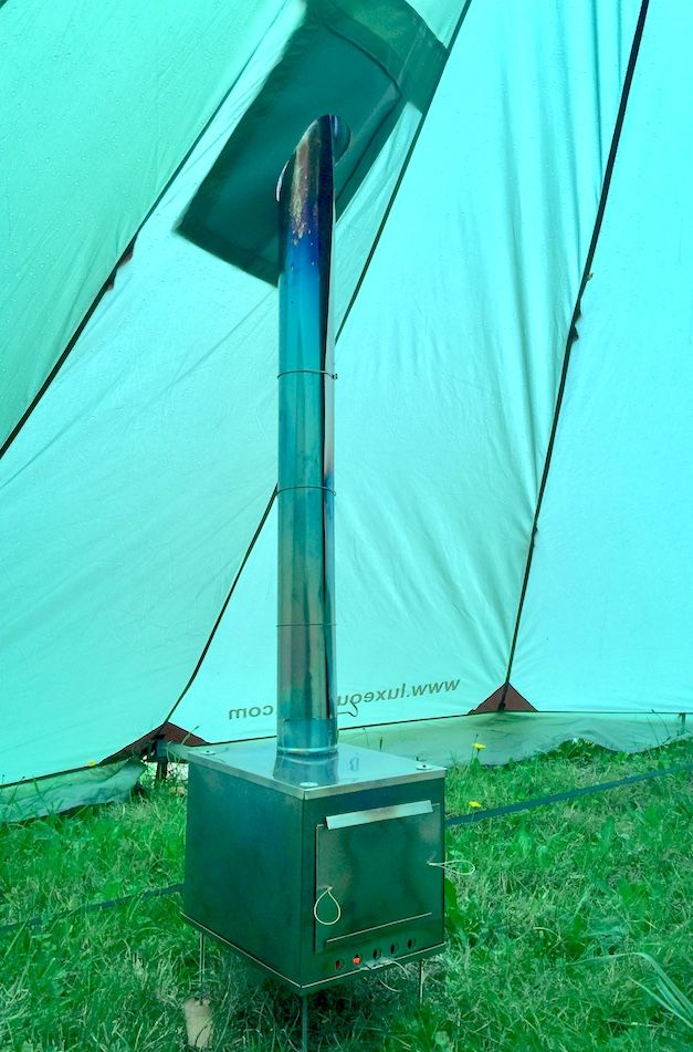 Wood Stove in Teepee Tent for C&ing & Megahorn Teepee with Wood Stove Jack (4P) Outer Tent