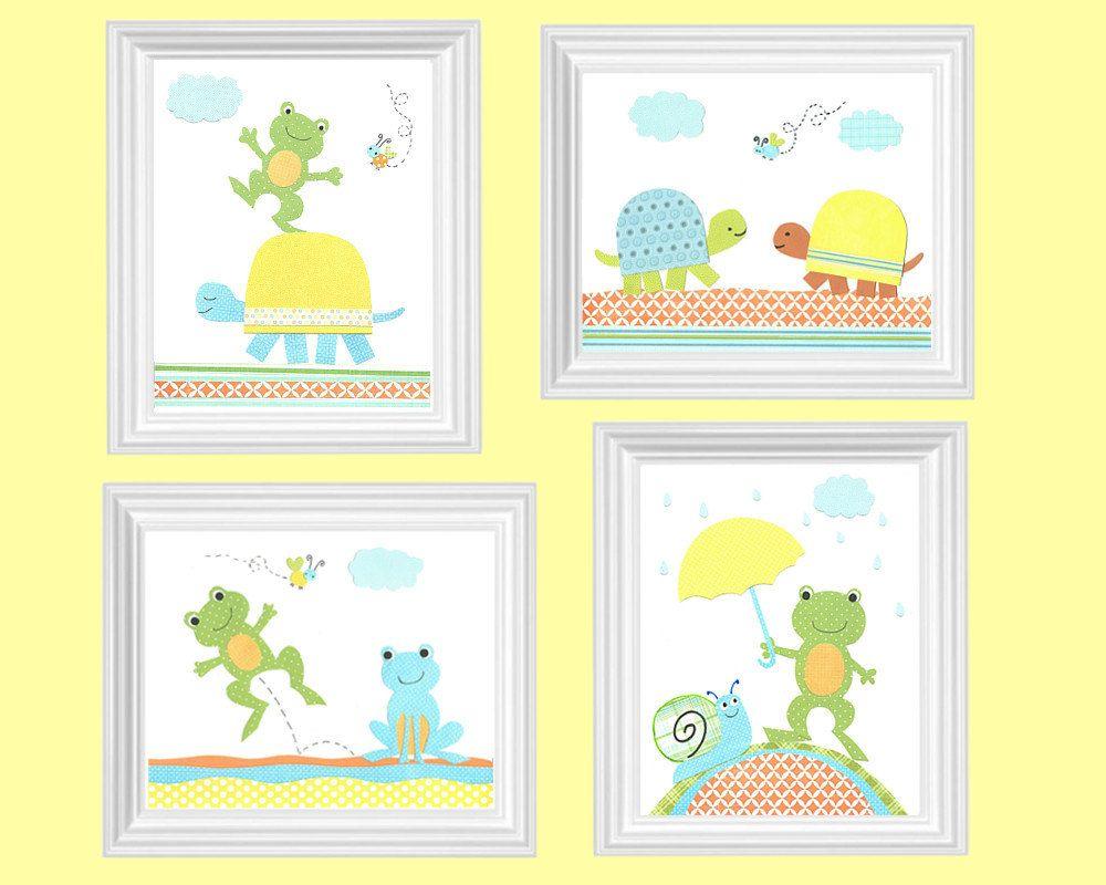 https://www.etsy.com/es/listing/177738340/frog-nursery-art-turtle ...