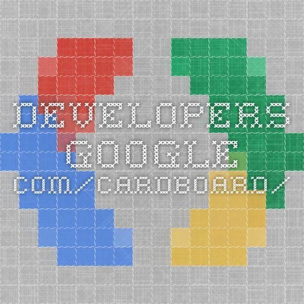 developersgoogle/cardboard/ HMDs Pinterest Vr