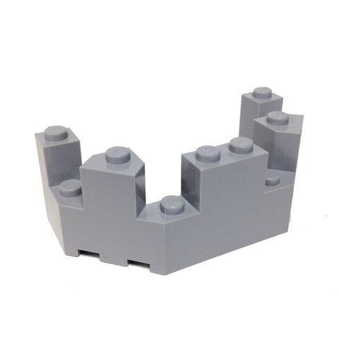 Lego Parts Roof Castle Turret Top 4 X 8 X 2 1 3 Light Bluish Gray Lego Parts Lego Lego Factory