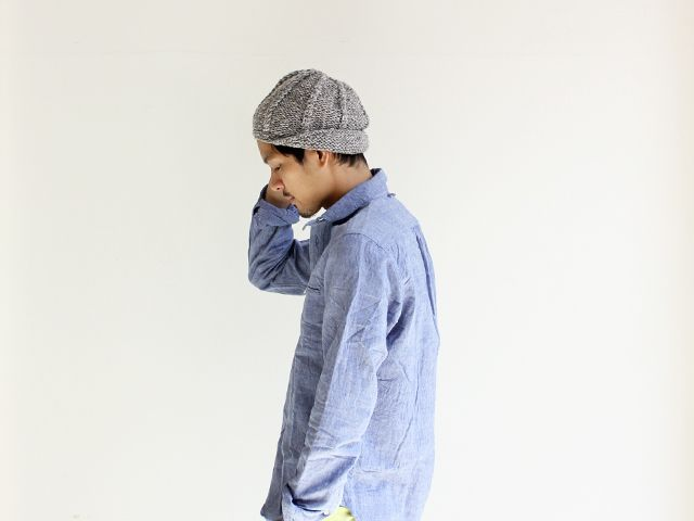 Janette Murray WOOl KNIT PEAKED CAPの画像:STYLE