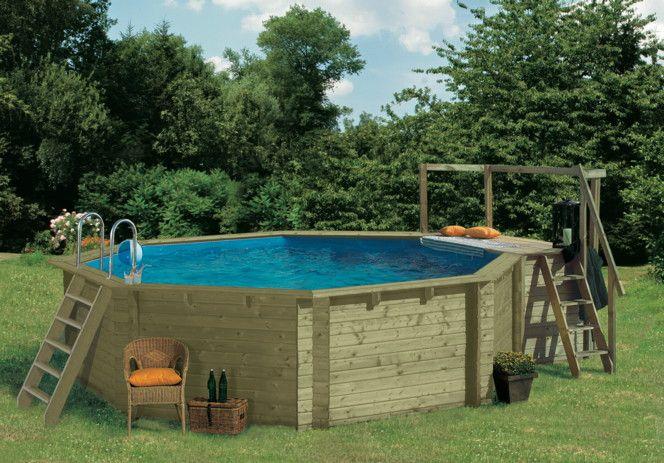 Holzpool Karibu Modell 1 - Schwimmbecken Aus Holz, Swimmingpool