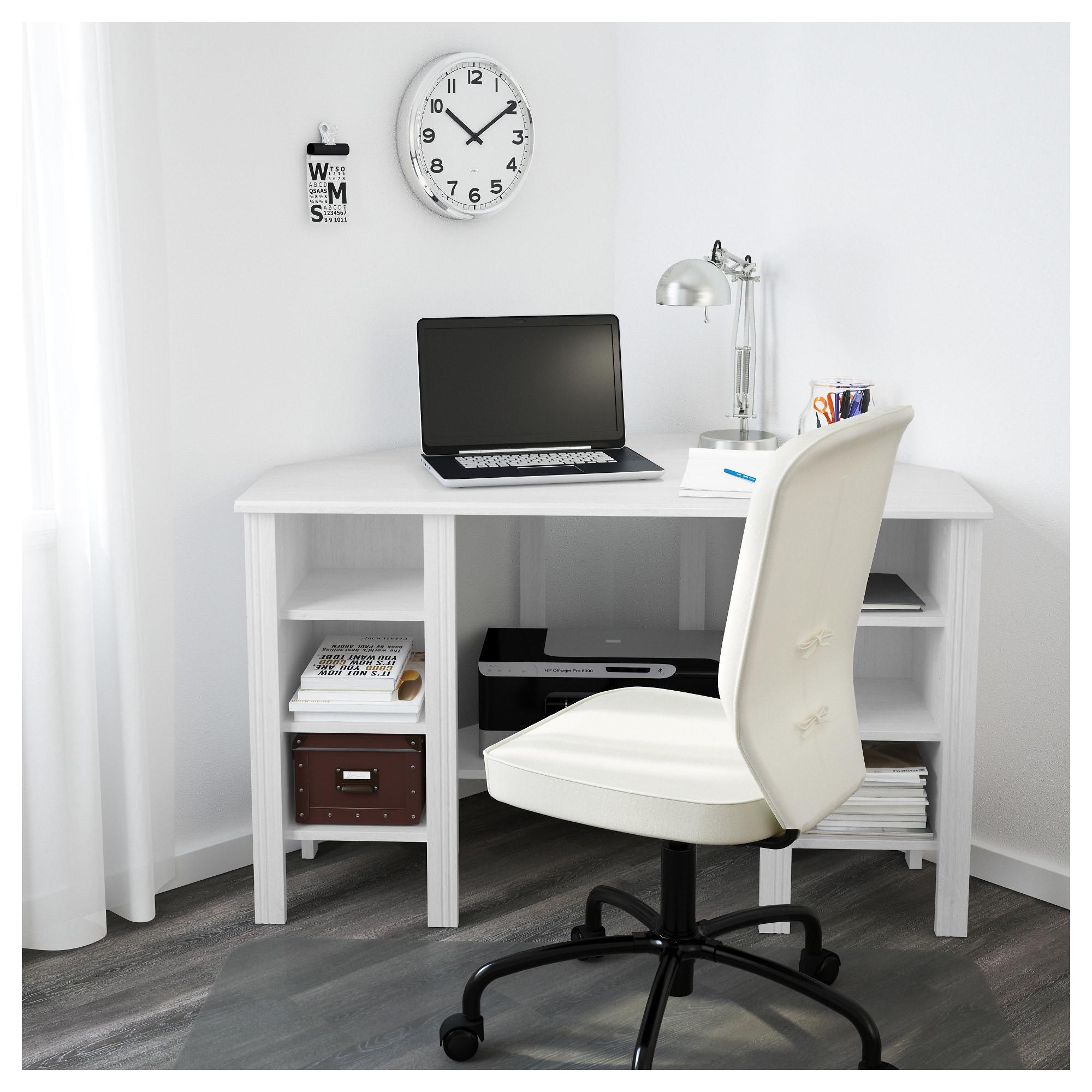 Ikea Hoekbureau Wit.Hoekbureau Brusali Wit In 2019 Ik Wou Dat Dees Mijn Huis Was