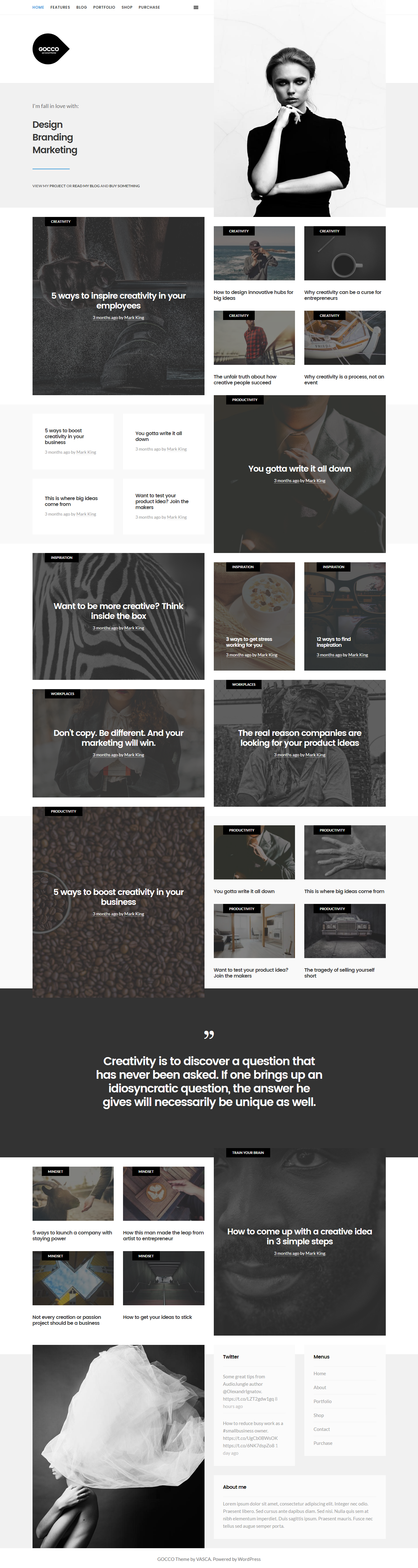 Gocco is one of the finest from WordPress Portfolio Themes