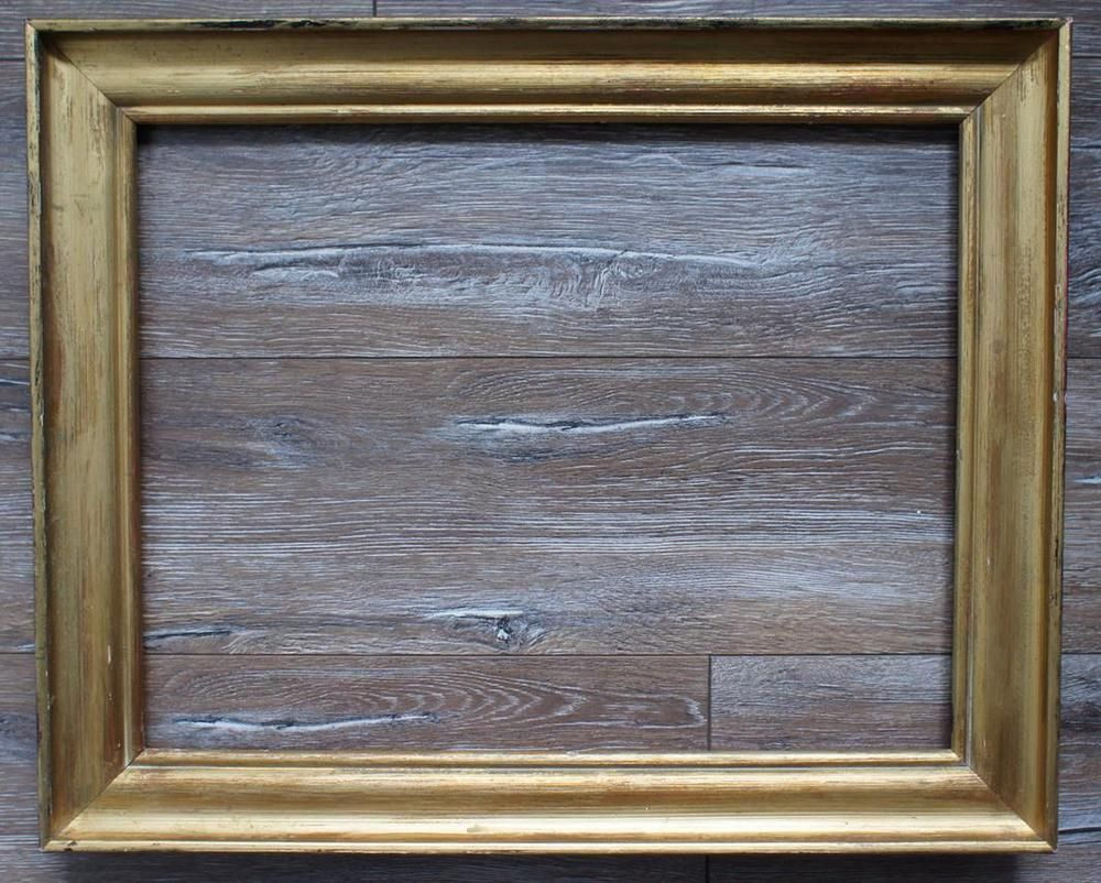Vergoldeter Bilderrahmen alter Holzrahmen 53 x 41 cm Innenmaß ...