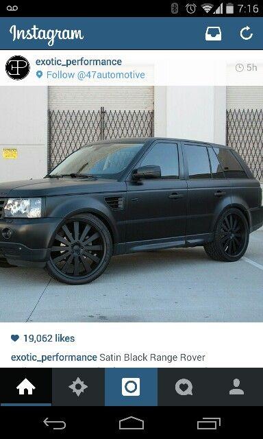 Matte black Rover #inlove