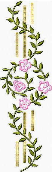 Flower border embroidery design designs
