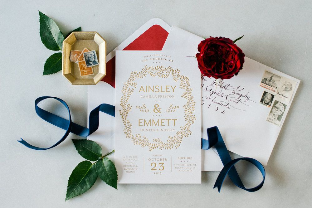 Luxe Autumn Wedding Style | by Hooked Calligraphy