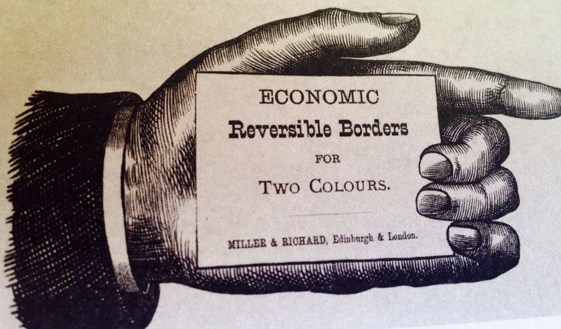 Printer's card, 1840.