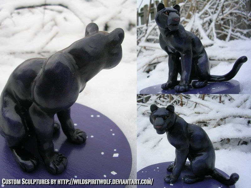 Panther Topper Sculpture by WildSpiritWolf on deviantART
