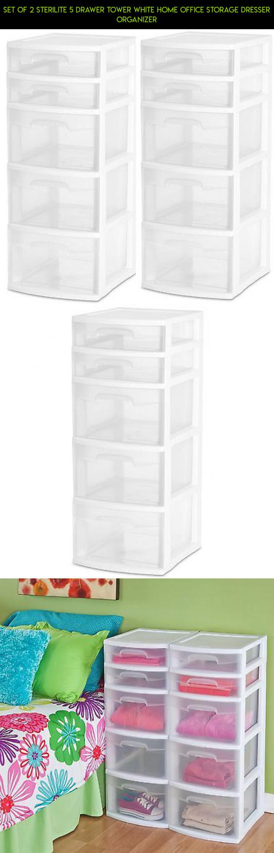 home office storage boxes. Set Of 2 Sterilite 5 Drawer Tower White Home Office Storage Dresser Organizer #gadgets # Boxes