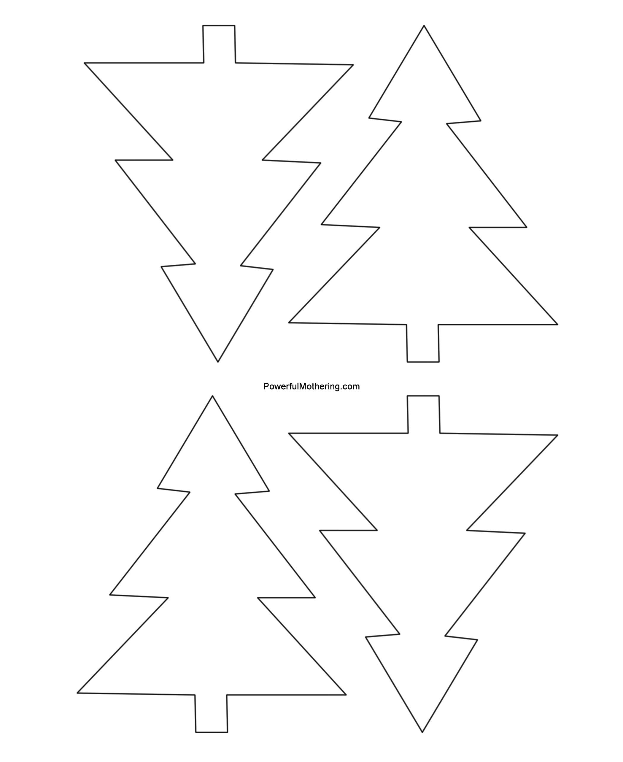 Blank Christmas Shapes Templates