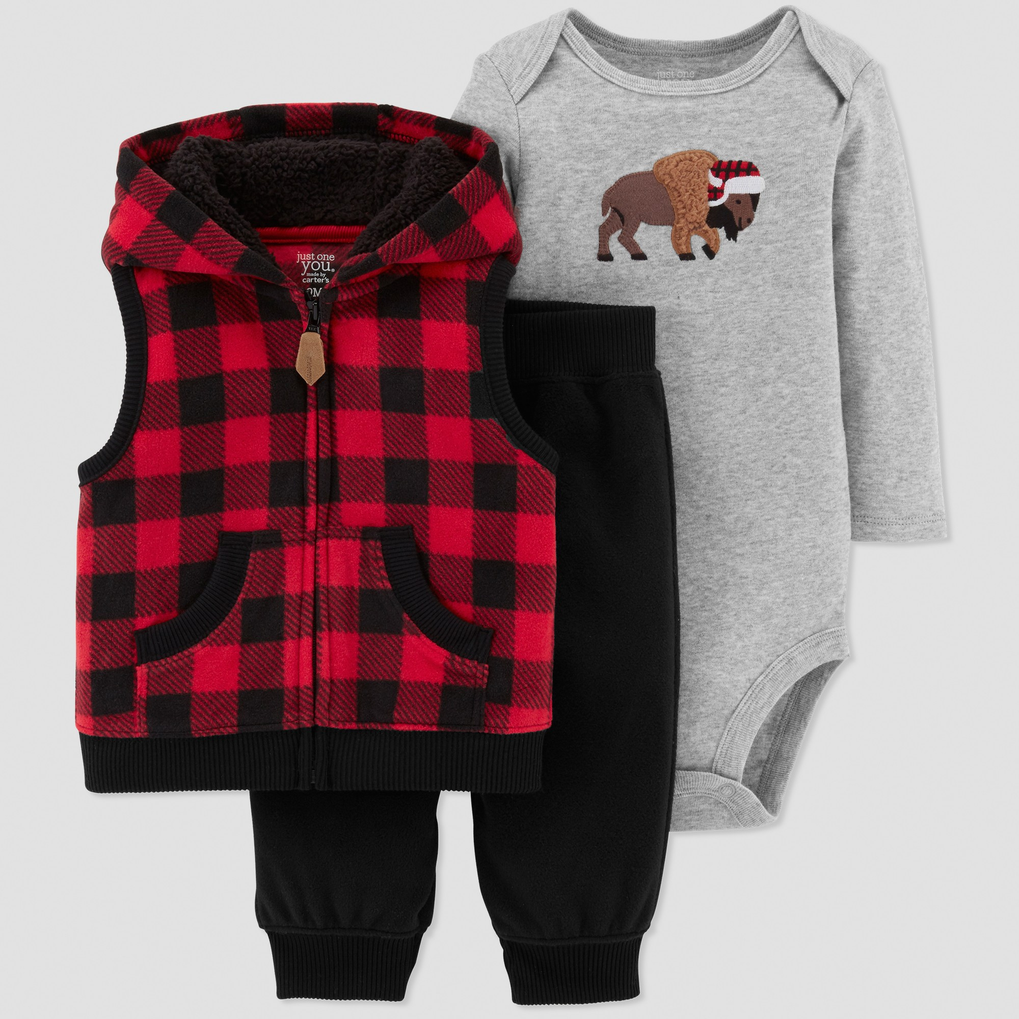 Baby Boys 3pc Buffalo Plaid Set Just One You Made By Carter S Red 18m Online Kids Clothes Cool Kids Clothes Buffalo Plaid Outfit