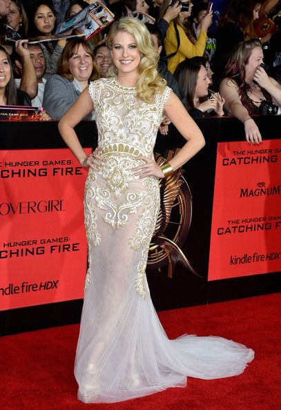 "Actress Stephanie Leigh Schlund attends the premiere of Lionsgate's ""The Hunger Games: Cathching Fire"" at Nokia Theatre L.A. Live on Novembe..."