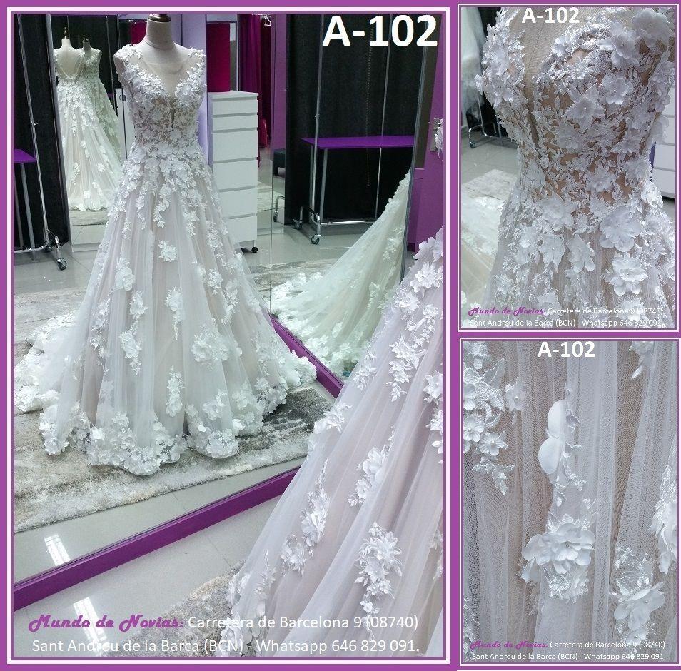 Exclusivo y elegante Vestido de Novia Princesa con espalda ...