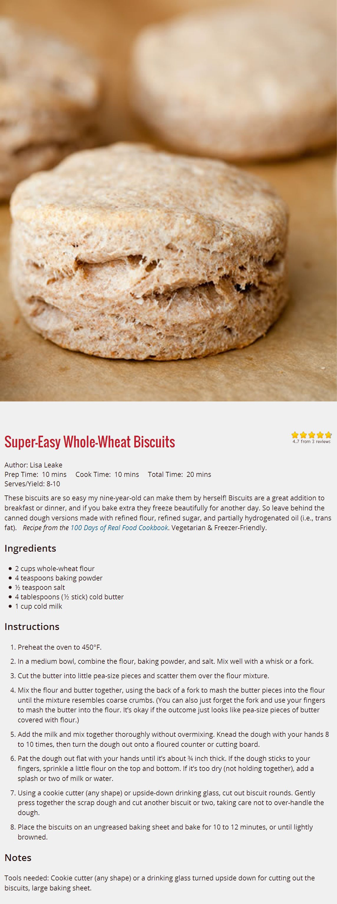 Super easy whole wheat biscuits recipe real foods easy and food super easy whole wheat biscuits easy baking recipesreal food forumfinder Images