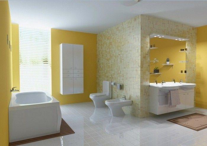 Peinture salle de bain - 80 photos qui vont vous faire craquer - Peindre Carrelage Salle De Bains