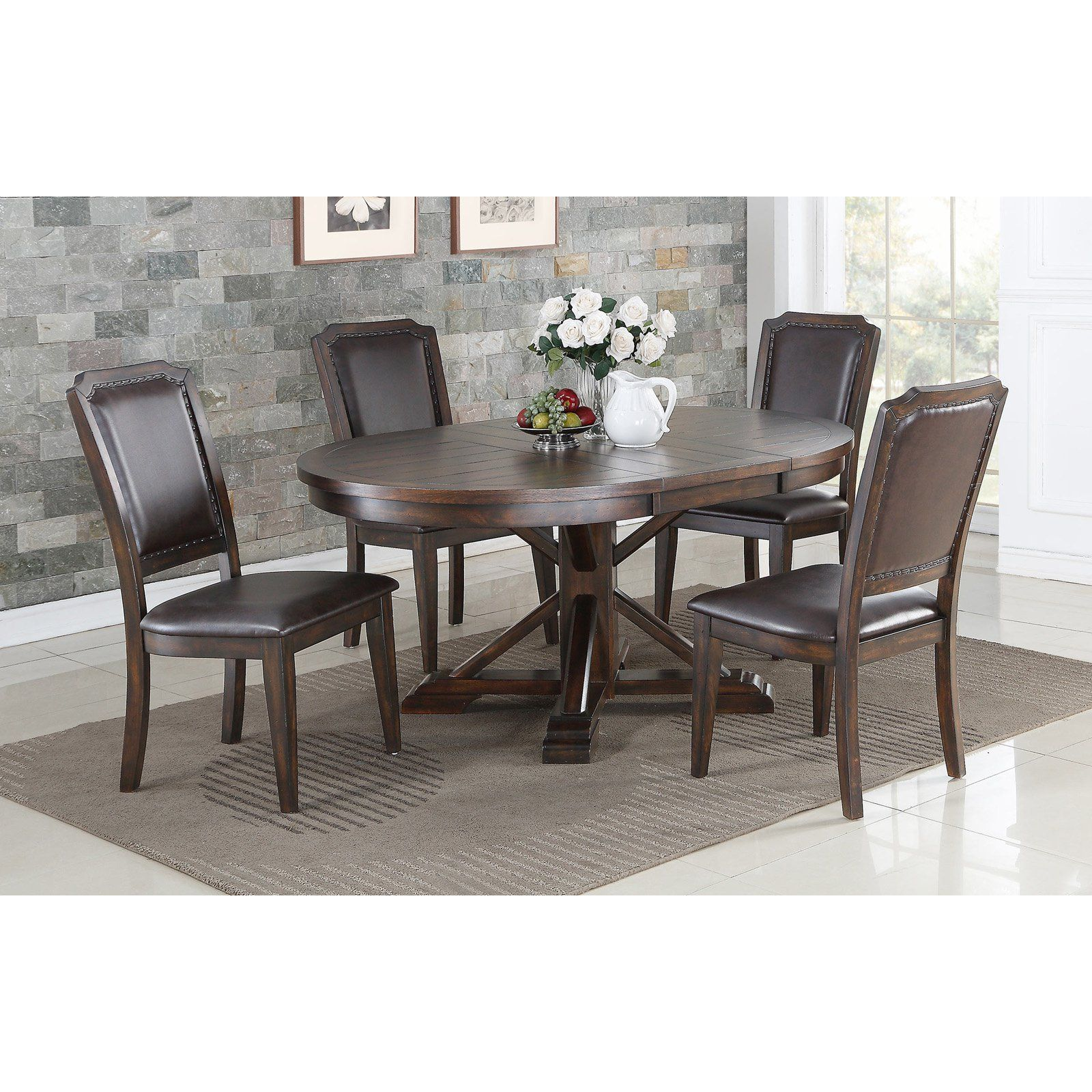 Winners Only Wood Pedestal Dining Table With 18 In Butterfly Leaf