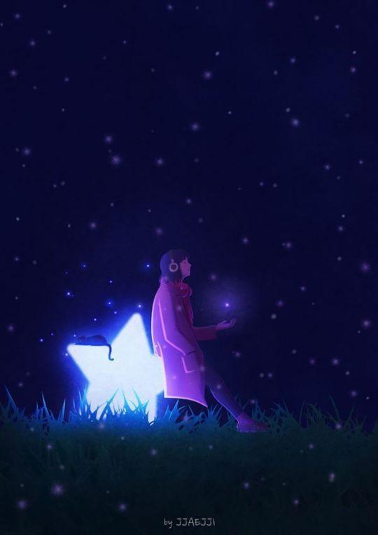 Angel star moon
