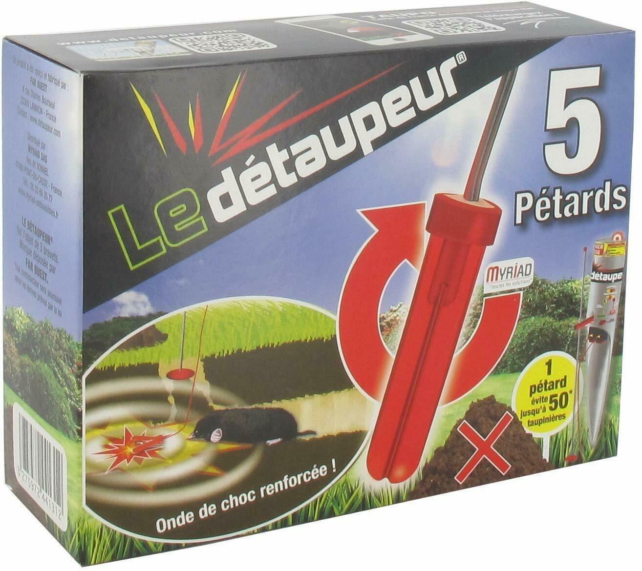 Details Sur Petard Anti Taupe Boite 5 Petards Detaupeur Piege Pour Terrier Rongeur Nuisible Petard Taupe Petard