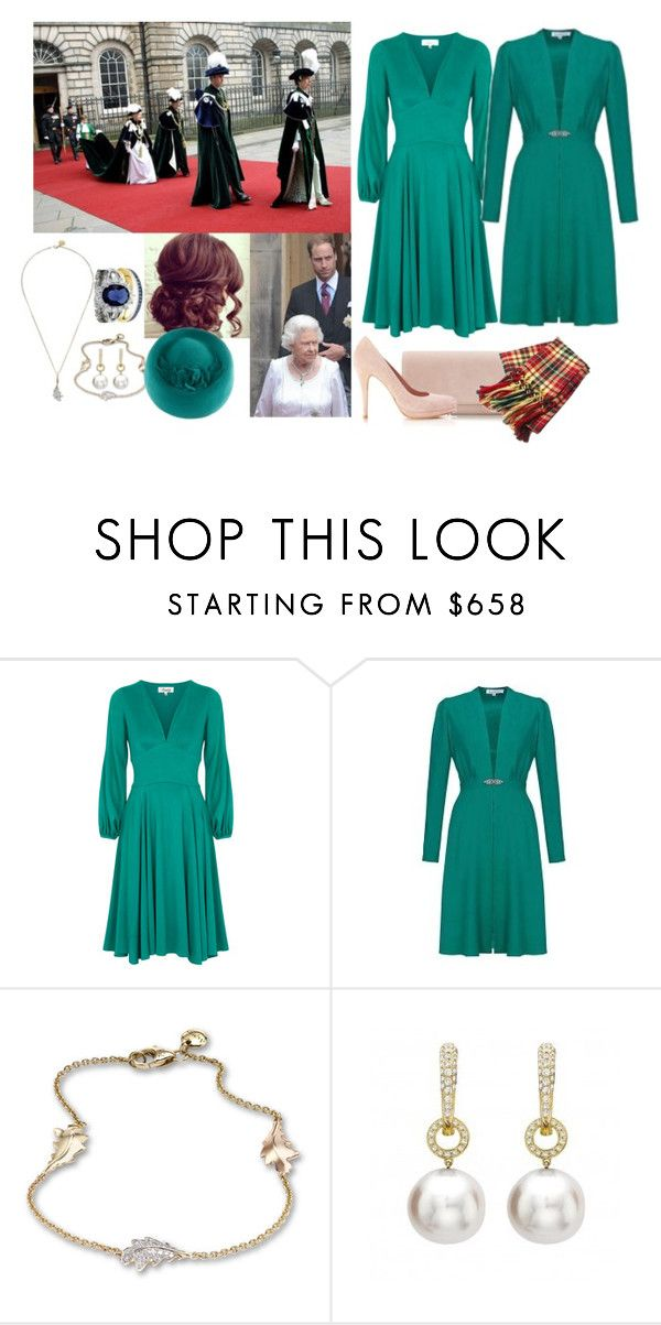 """""""Attending Her Husband's Investiture Into the Order of the Thistle At St.Giles Cathedral In Edinburgh With the Family"""" by madeleine-duchessofcam ❤ liked on Polyvore featuring Emilia Wickstead, Beulah and Asprey"""