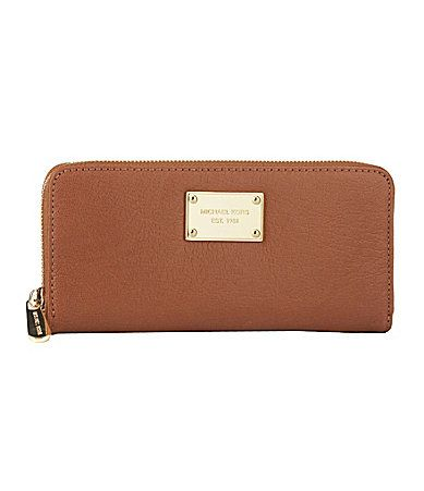 MICHAEL Michael Kors Jet Set ZipAround Continental Clutch Wallet #Dillards   (luggage colored)