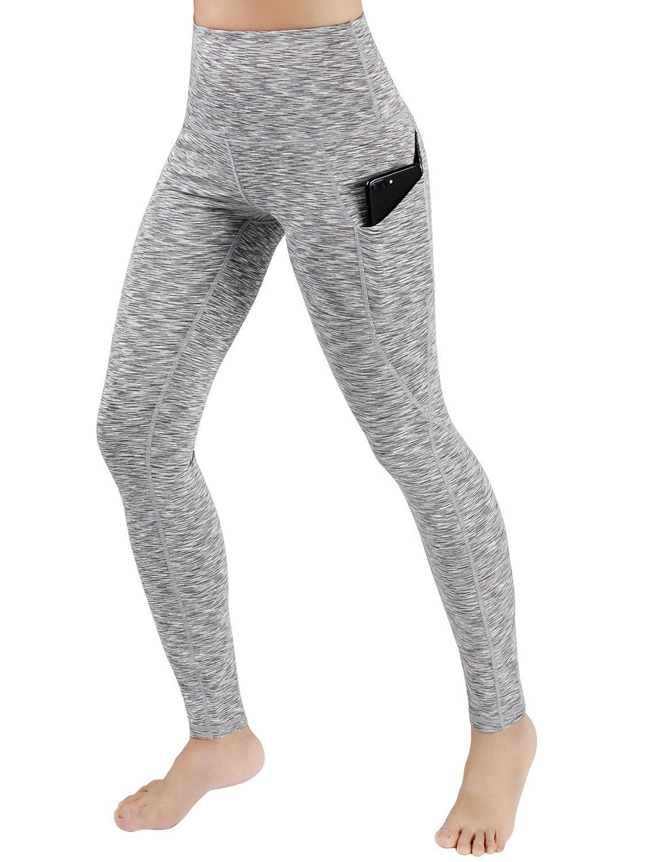 cff2559a9ebf6d ODODOS High Waist Out Pocket Yoga Pants Tummy Control Workout Running 4 Way  Stretch Yoga Leggings