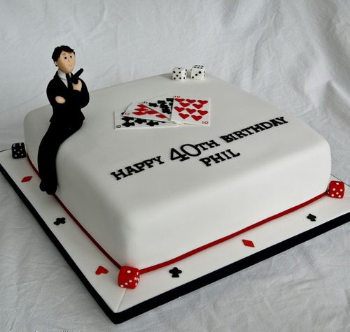 Birthday Cakes For Men Playing Card Birthday Cakes For Men