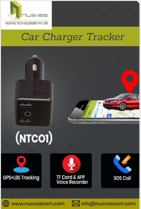 Nuevastech Car Charger Tracker Gps Vehicle Tracking System