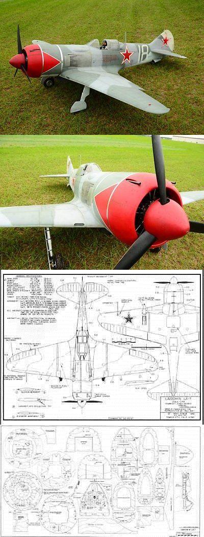 RC Plans Templates and Manuals 182212: Lavochkin La7 96 Inch