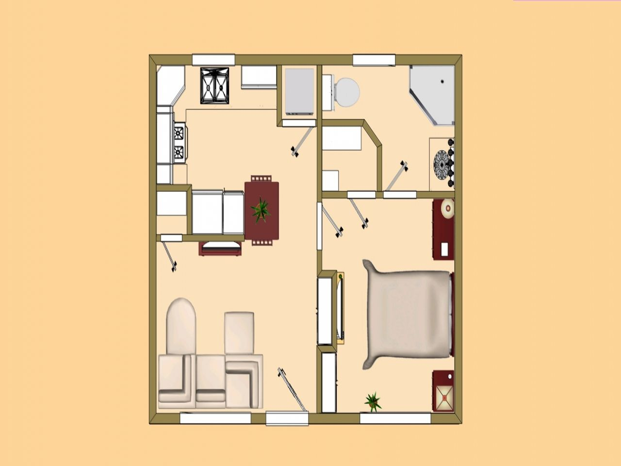 500 Sf House Plans Uk Small 400 Sq Ft To Under Less Than Square 13 Charming Idea Feet Home Cottage Floor Plans House Plans House Floor Plans