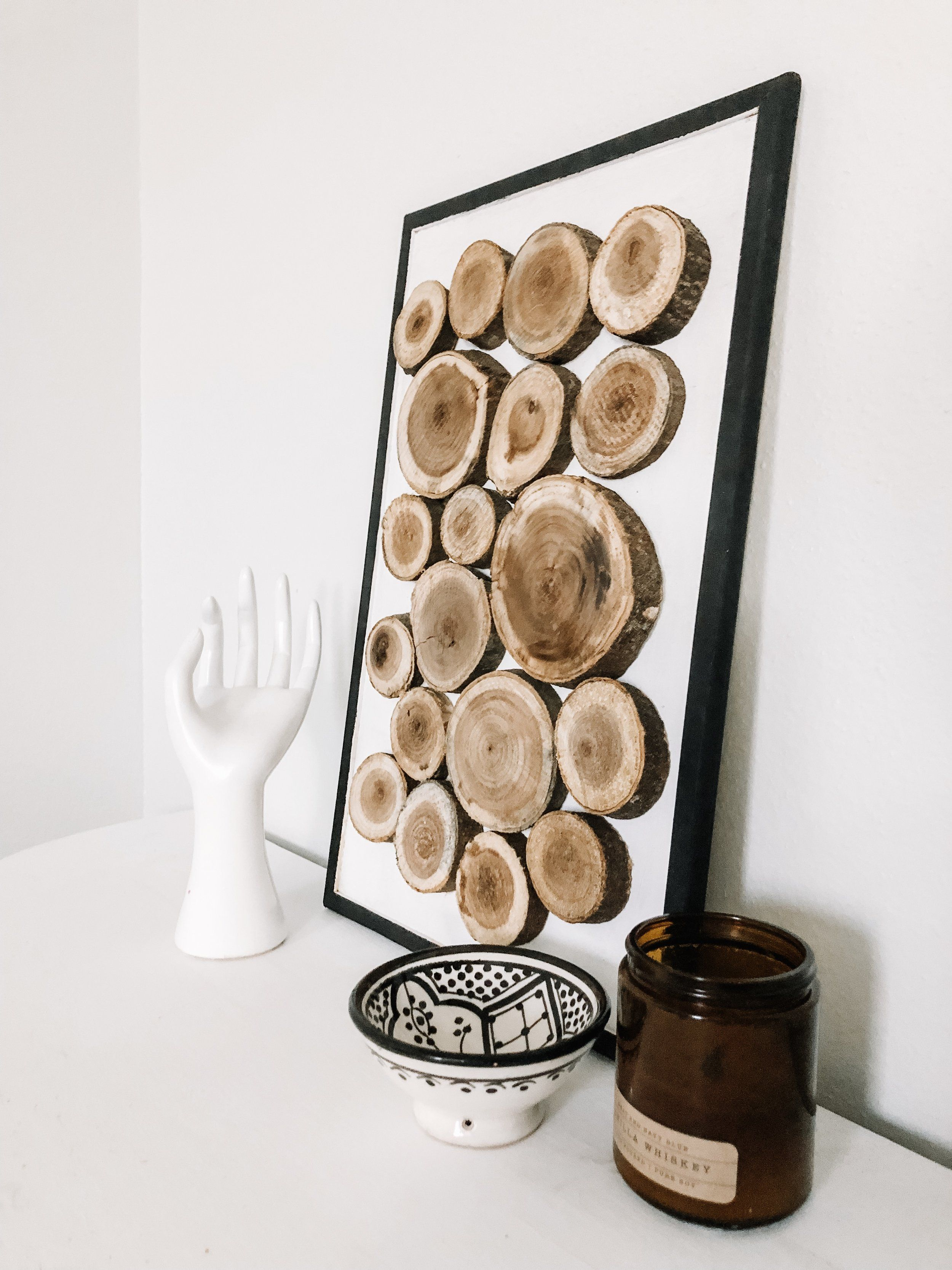 Diy This Wood Slice Wall Art For Less Than 10 Wood Wall Art Diy Wood Art Diy Diy Wall Art
