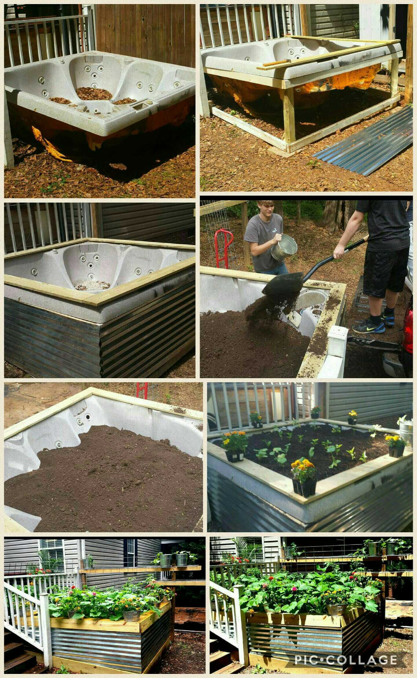Here S What To Do With That Old Hot Tub Hot Tub Landscaping