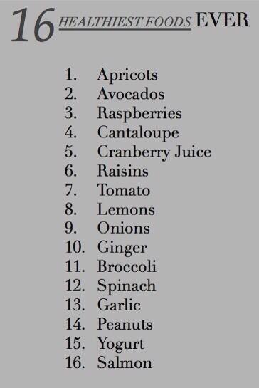 Top healthy foods