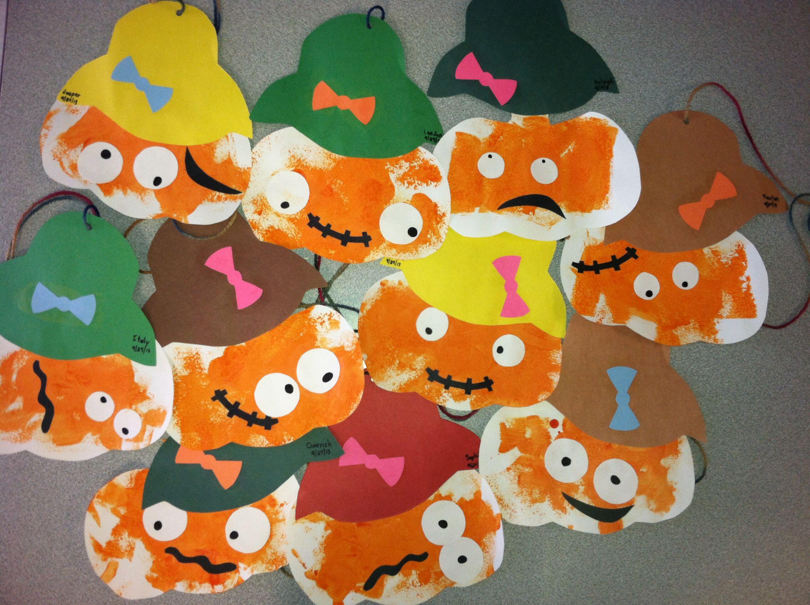 Pumpkin Head Scarecrow Craft