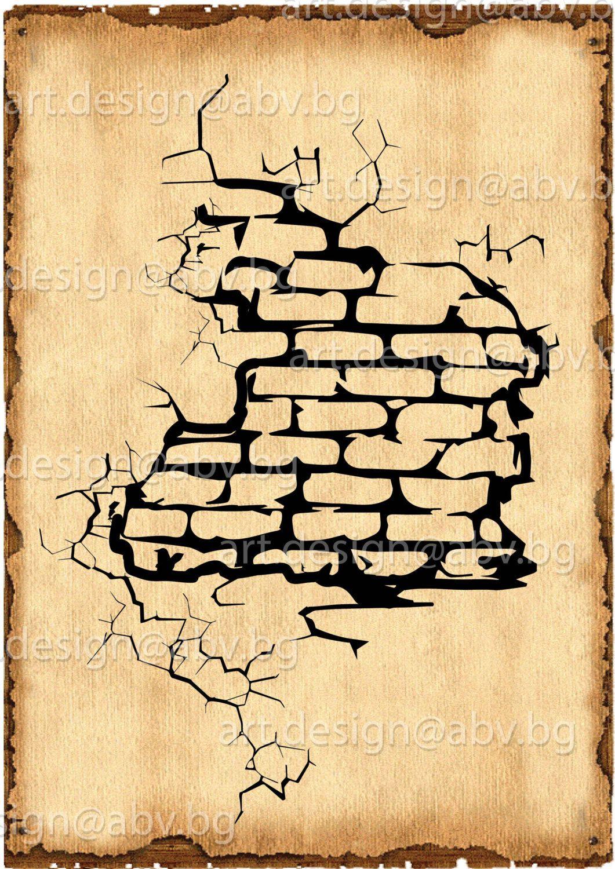 hole crack brick wall - Google keresés | Street Art | Pinterest ...