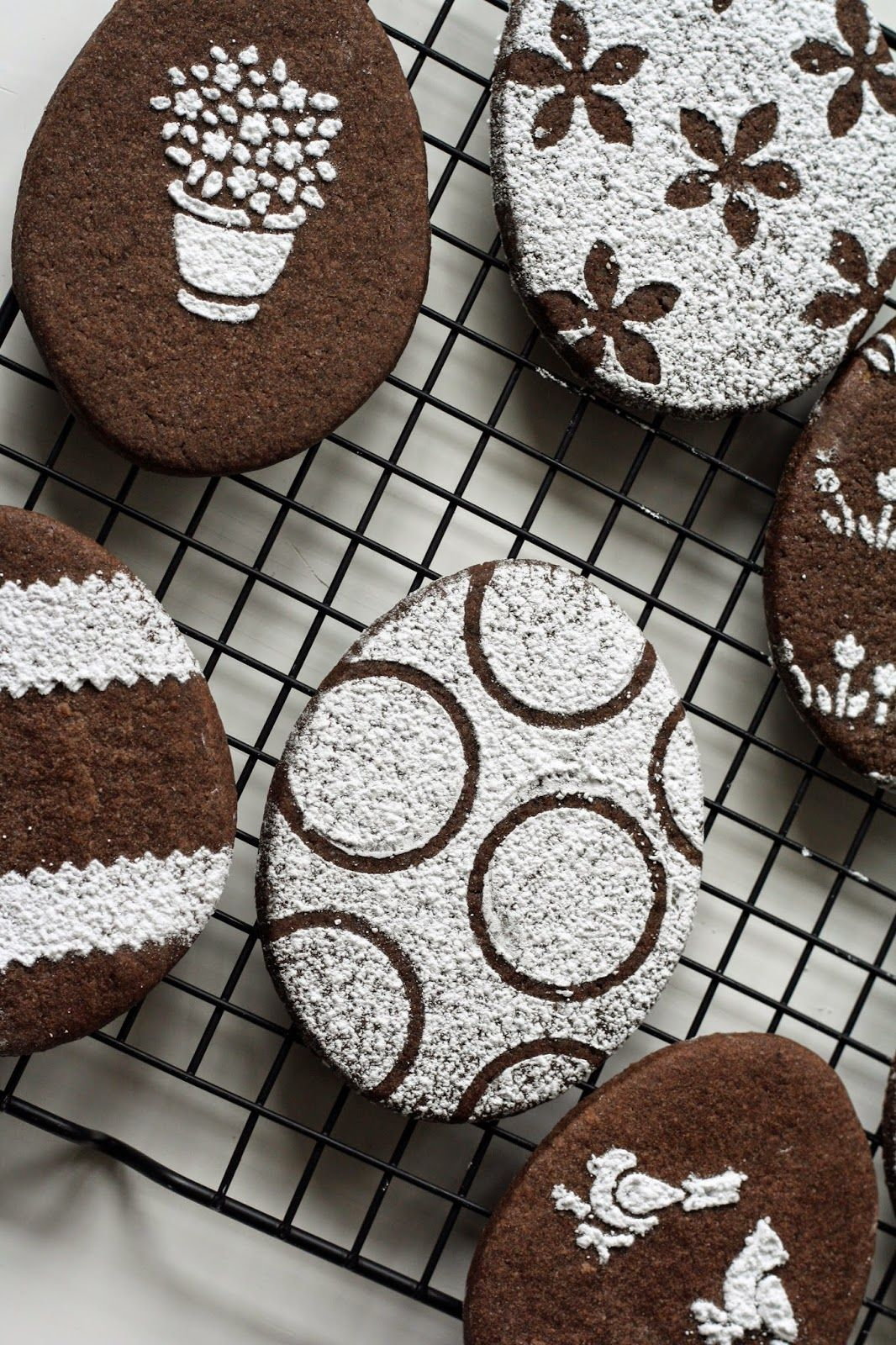 Use stencils and powdered sugar to decorate chocolate ...