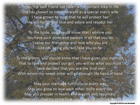 Maid Of Honor Toast Digital Print Downloadable Speech For Matron