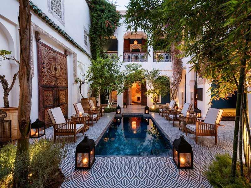 Beautiful Moroccan Riads Part 1 Pool Courtyard Courtyard House