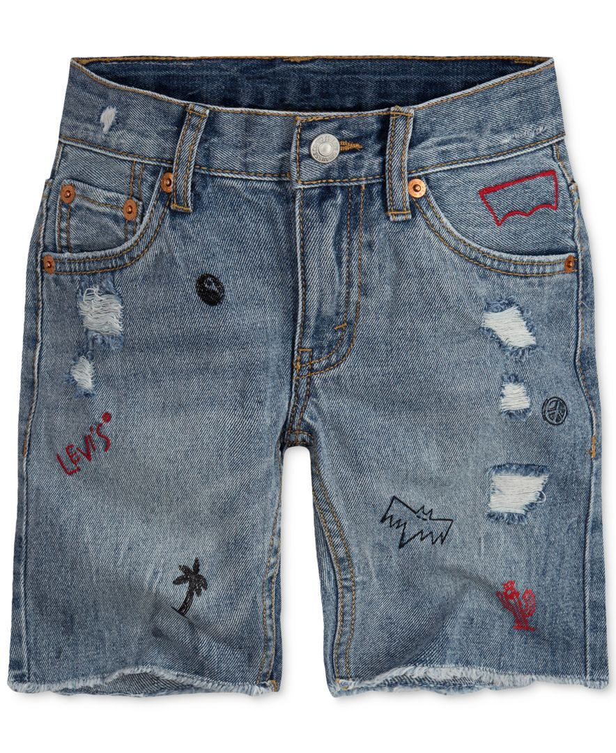 93badd134b A little bit of fray doesn't hurt, especially not with Levi's 511 Distressed  Cut-Off Shorts. Designed with adventure in mind, these shorts feature a ...