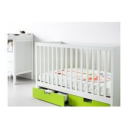 STUVA Crib with drawers - green - IKEA   Cunas, Cajones