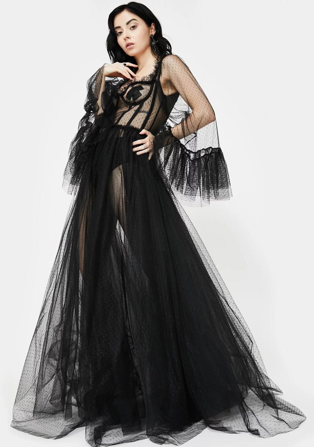 Haunting Beloved Tulle Dress #blackmaxidress