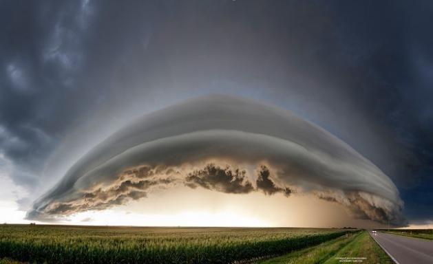Shelf Cloud- nuvens espetaculares!