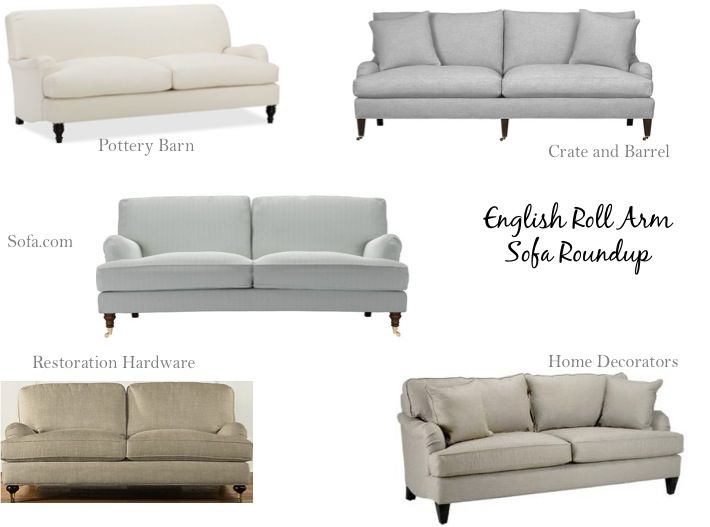 English Roll Arm Sofas   Sofas   Pinterest   Living rooms, Cottage ...