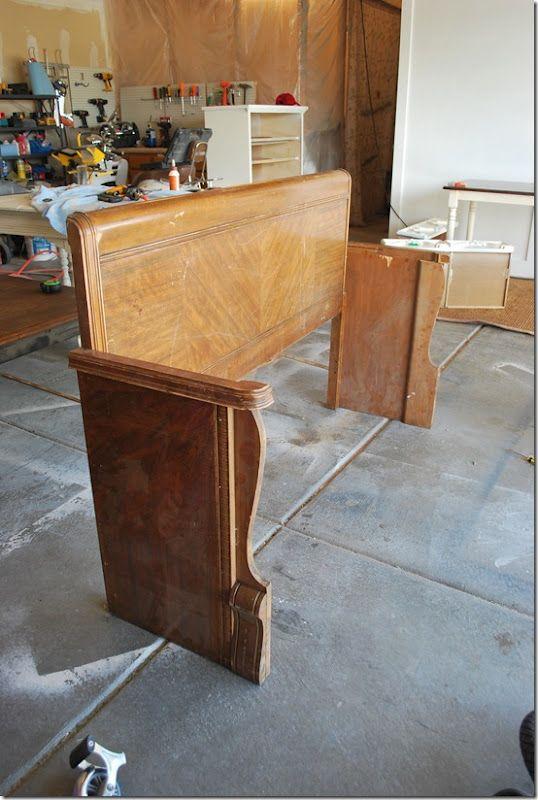 Repurposed Headboard/Footboard}